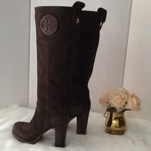 Tory Burch Leather Suede Boots
